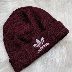 Adidas Beanie Burgundy Perfect for a Chill Night